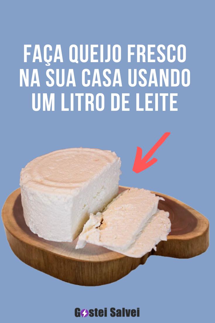 You are currently viewing Faça queijo fresco na sua casa usando um litro de leite