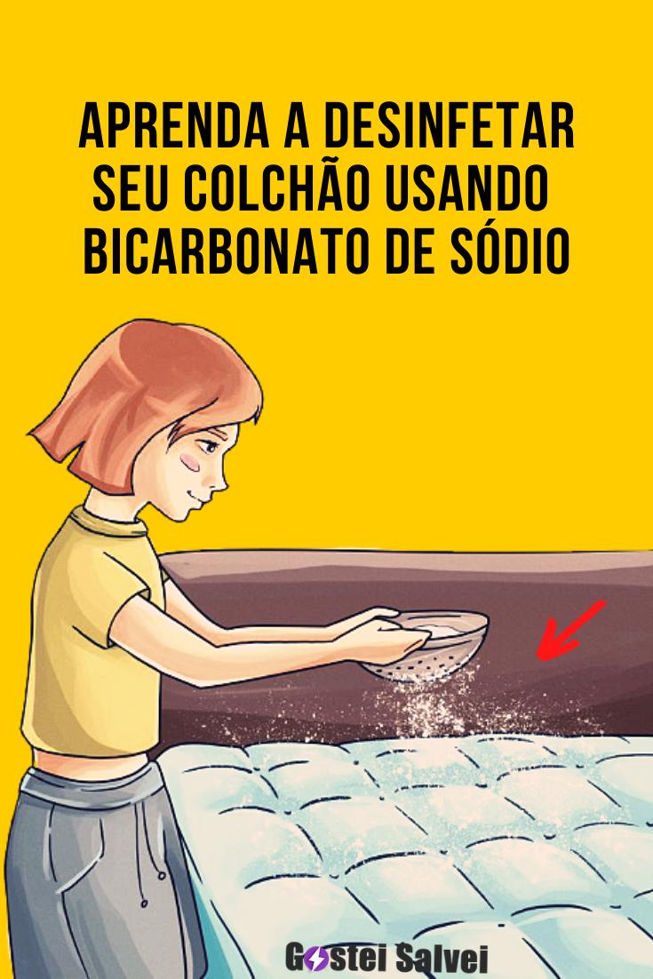 Desinfete o colchão da sua cama usando bicarbonato de sódio