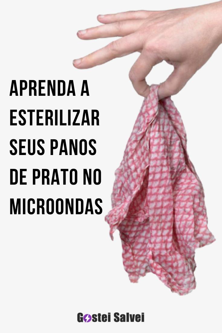 You are currently viewing Aprenda a esterilizar seus panos de prato no microondas