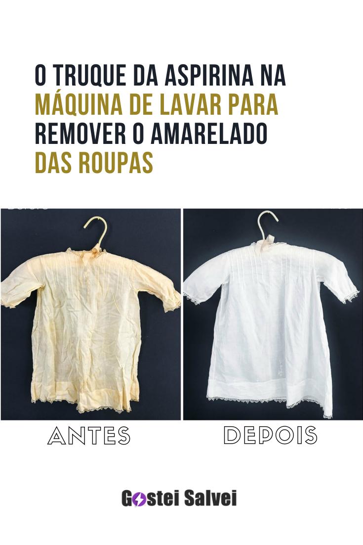 You are currently viewing O truque da aspirina na máquina de lavar para remover o amarelo das roupas