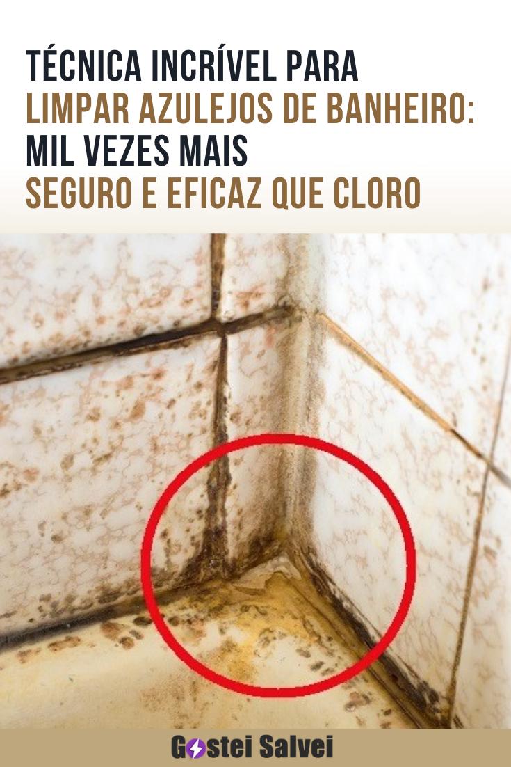 You are currently viewing Técnica incrível para limpar azulejos de banheiro: Mil vezes mais seguro e eficaz que cloro