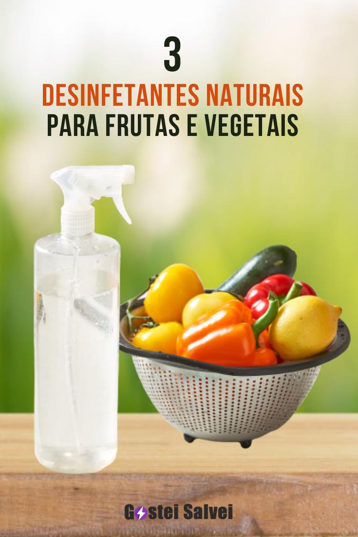 You are currently viewing 3 Desinfetantes naturais para frutas e vegetais
