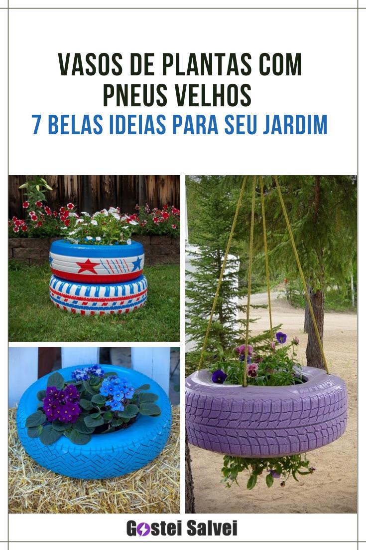 You are currently viewing Vasos de plantas com pneus velhos – 7 Belas ideias para seu jardim