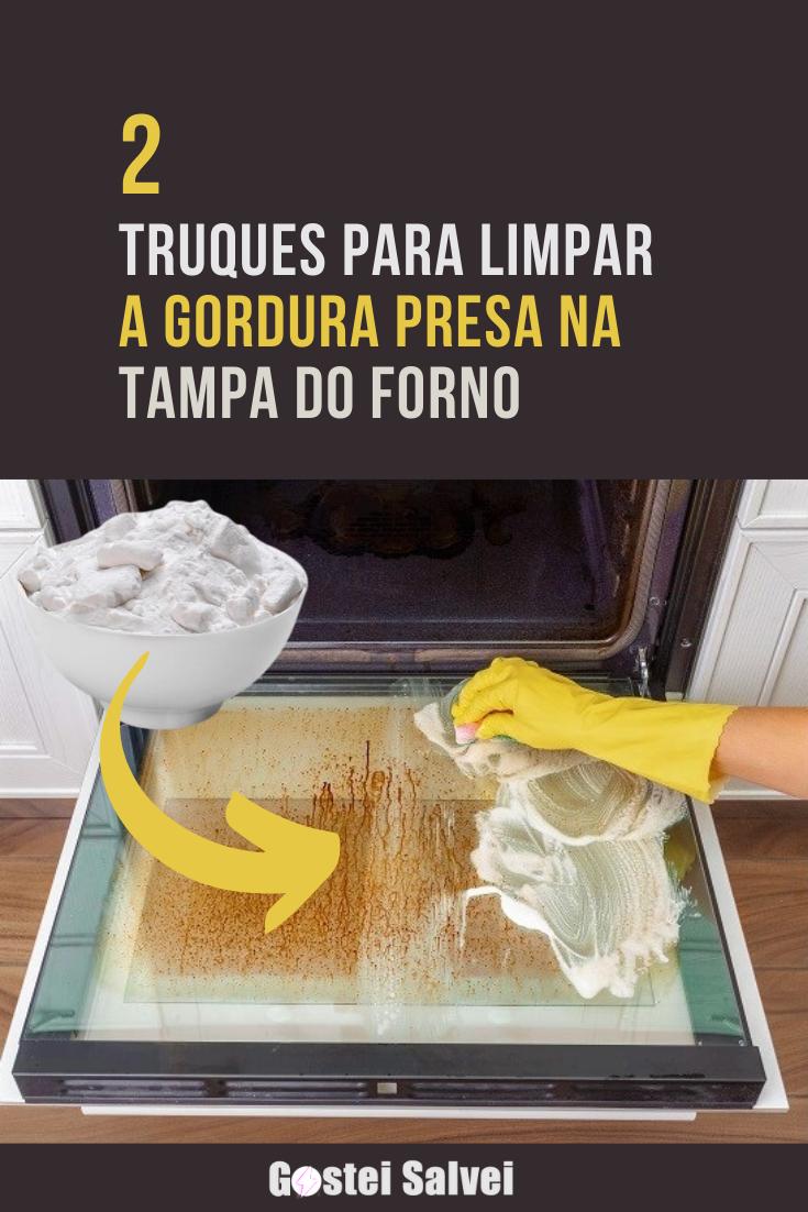 You are currently viewing 2 Truques para limpar a gordura presa na tampa do forno