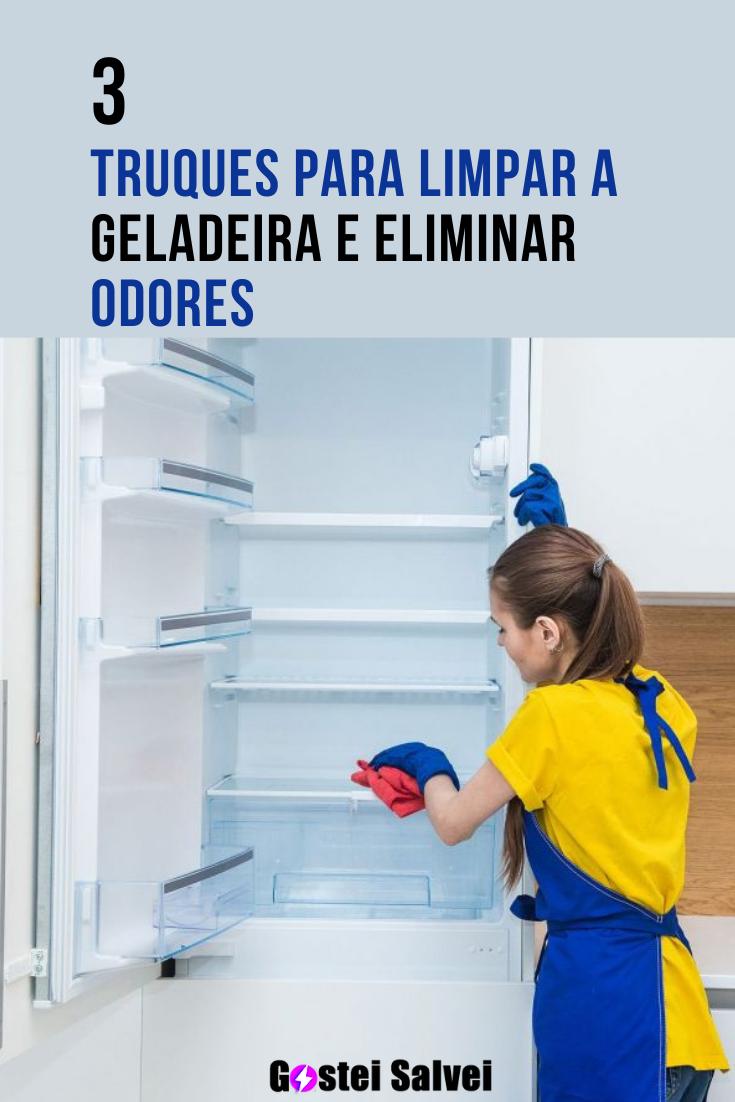 You are currently viewing 3 Truques para limpar a geladeira e eliminar odores