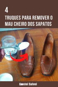Read more about the article 4 Truques para remover o mau cheiro dos sapatos