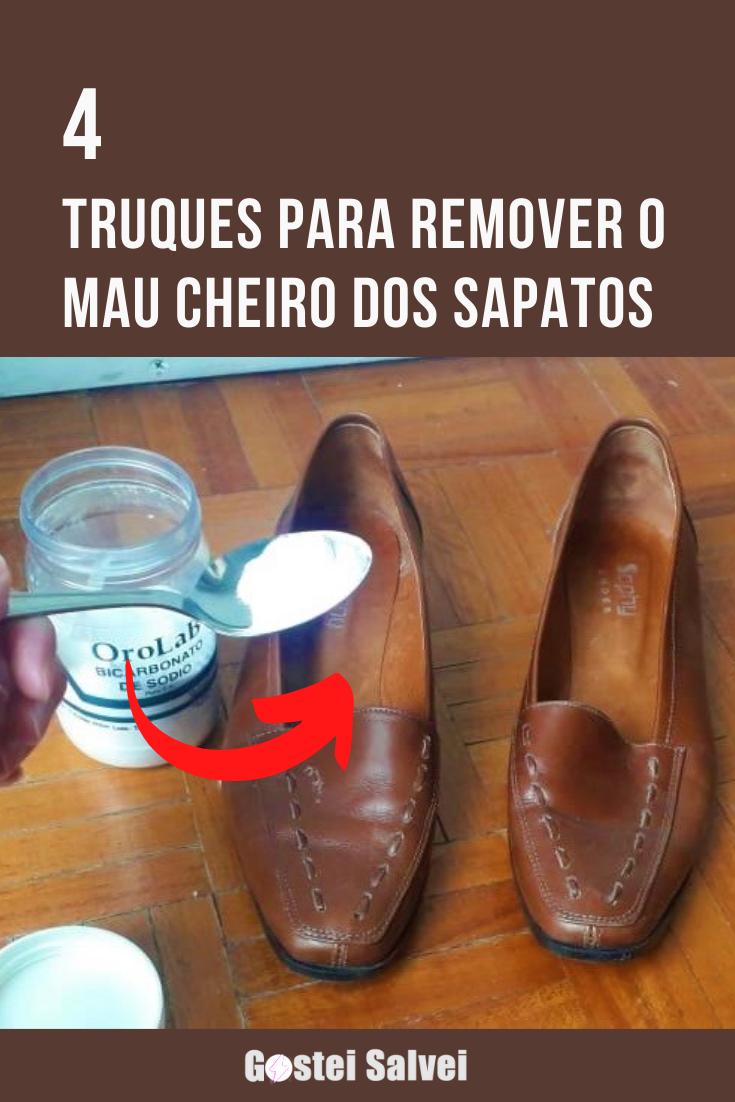 You are currently viewing 4 Truques para remover o mau cheiro dos sapatos