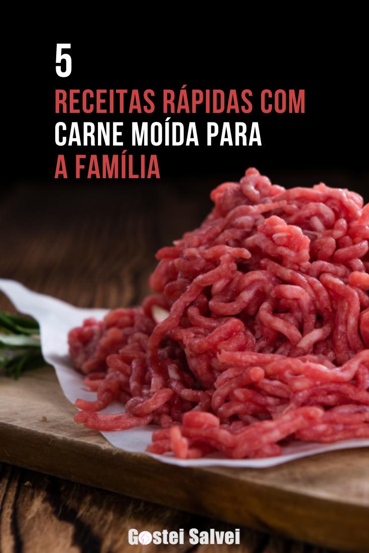You are currently viewing 5 Receitas rápidas com carne moída para a família