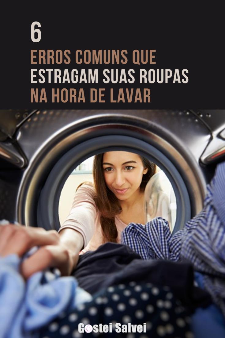 You are currently viewing 6 Erros comuns que estragam suas roupas na hora de lavar