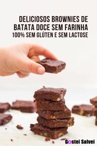 Read more about the article Deliciosos brownies de batata doce sem farinha – 100% sem glúten e sem lactose