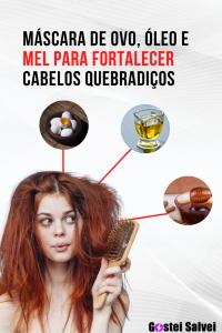 Read more about the article Máscara de ovo, óleo e mel para fortalecer cabelos quebradiços