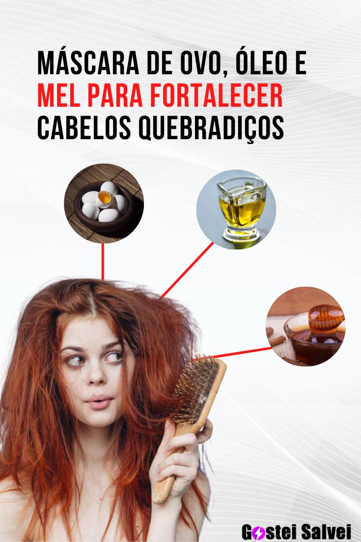 You are currently viewing Máscara de ovo, óleo e mel para fortalecer cabelos quebradiços