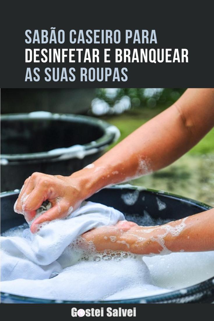 You are currently viewing Sabão caseiro para desinfetar e branquear roupas